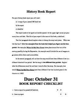 History Book Report
