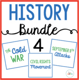 History Bundle 4: Cold War, Civil Rights Movement, September 11 Attacks