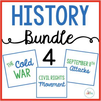 History Bundle 4: Cold War, Civil Rights Movement, September 11 Attacks