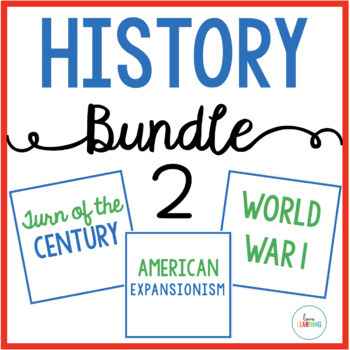 History Bundle 2: Ellis Island, Expansionism, Spanish-American War, World War I