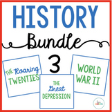 History Bundle 3: The Roaring Twenties, The Great Depression, World War 2