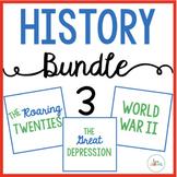 History Bundle 3: The Roaring Twenties, The Great Depression, World War 2
