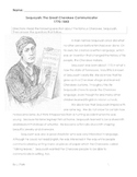 History: CHEROKEE INDIAN, SEQUOYAH + 10 Multiple Choice Reading Comprehension Qs