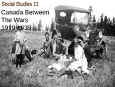 History - Canada Interwar years 1919-1939 PowerPoint