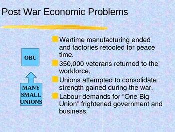 History - Canada Interwar years 1919-1939 PowerPoint