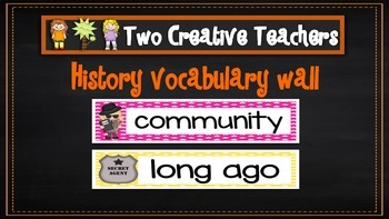 History / Change Over Time Word Wall
