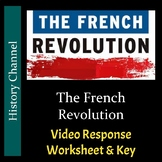 History Channel - The French Revolution - Video Worksheet and Key (Editable)