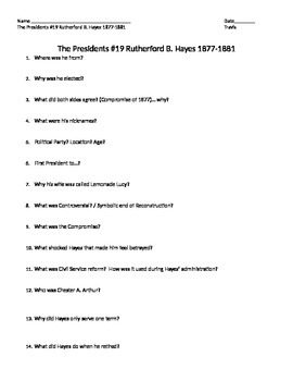 History Channel The Presidents Rutherford B. Hayes Movie Guide