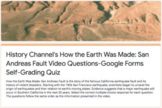 History Channel's How the Earth Was Made: San Andreas Fault, Google Forms Quiz