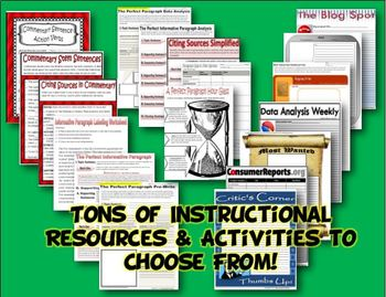 History Common Core Activities, Resources & Templates Grades 6, 7 & 8