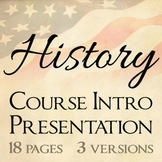 History Course Introduction PowerPoint Templates