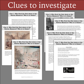 History Crime Solvers: Boston Massacre