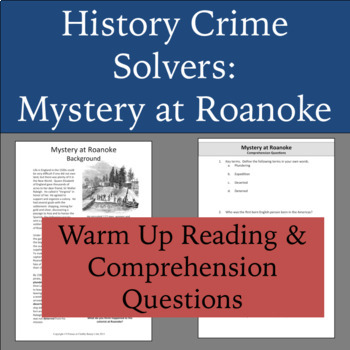 History Crime Solvers: Lost Colony of Roanoke