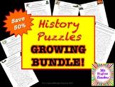 History Cryptogram Puzzles GROWING BUNDLE!