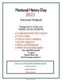National History Day 2020 Interactive Notebook