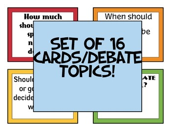 History Debate Cards