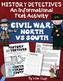 Civil War North vs South Informational Text Activity