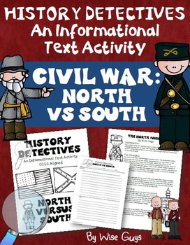 Civil War North vs South Informational Text Activity