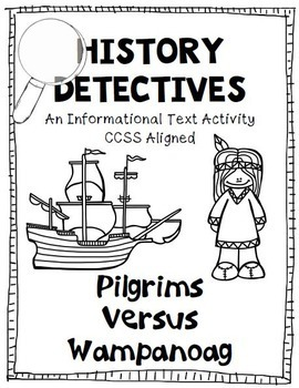 Thanksgiving Pilgrims and Native Americans Informational Text Activity