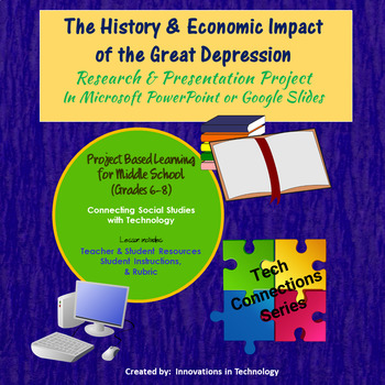 History & Economic Impact of the Great Depression - Research & Presentation