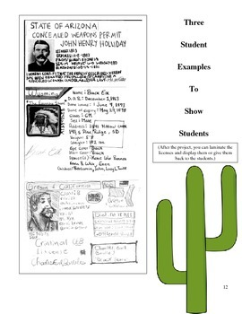 History Extension Pack: Old West Driver's License Project
