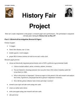 History Fair Project