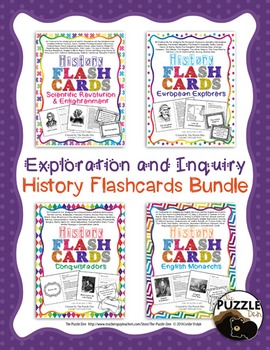 History Flashcard Discount Bundle - Exploration and Inquiry