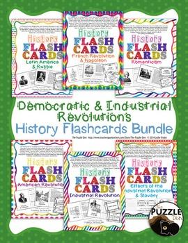 History Flashcard Discount Bundle - Democratic and Industrial Revolutions