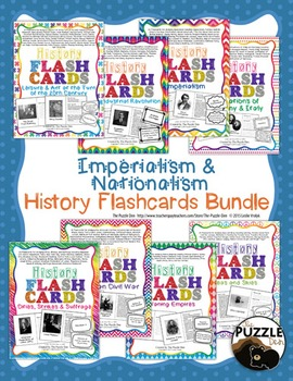 History Flashcard Discount Bundle - Imperialism and Nationalism