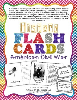 History Flashcards - American Civil War