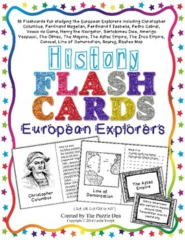 History Flashcards - European Explorers