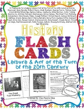 History Flashcards - Leisure & Art at the Turn of the 20th Century
