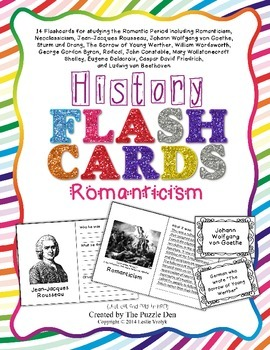 History Flashcards - Romanticism