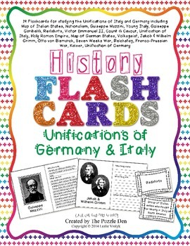 History Flashcards - Unifications of Germany and Italy