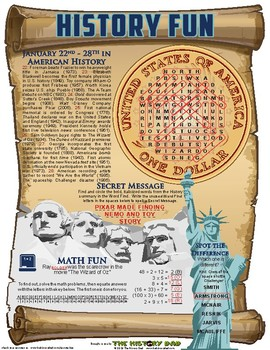 History Fun: January 22 - 28, 2017