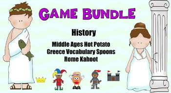 History Game Bundle Middle Ages Greece and Rome