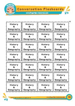 History & Geography - Conversation Flashcards
