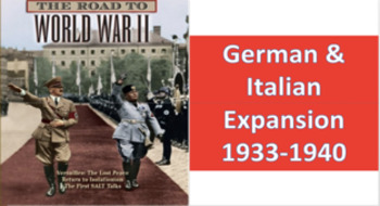 History Group Project (German & Italian Expansion -1933-1940) Move To Global War