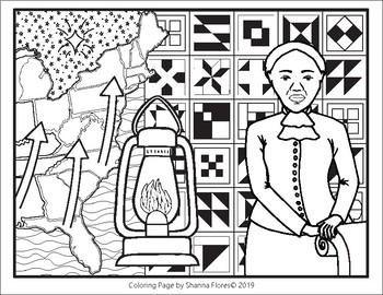 History: Harriet Tubman Zen Coloring; Slavery, Freedom, Underground Railroad