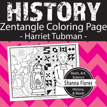 History Harriet Tubman Zen Coloring Page Slavery Freedom Underground Railroad