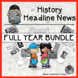 This Day in History Newspaper Informational Nonfiction Reading Passages BUNDLE