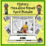 History Headline News Informational Text Reading April Dis