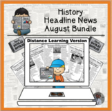 History Headline News Informational Text Reading August Di