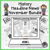History Headline News Informational Text Reading November
