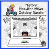 History Headline News Informational Text Reading October D