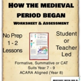 How the Medieval Period Began Worksheet  - Middle Ages His