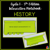 History Interactive Notebook (Classical Conversations Cycle 1 - 5th Ed)
