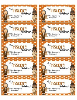 History Interactive Notebook Labels