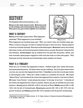 History Introduction Lesson for Fifth Grade
