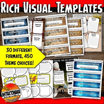 History Investigation Interactive Notebook Templates with Focus Questions